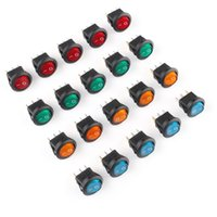 ingrosso interruttore a led 12v-20 PCS LED Dot Light 12 V Auto Car Boat Round ON / OFF Rocker Toggle SPST Switch