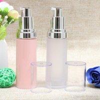 rosa plastiklotion flasche großhandel-30ml Frosted / Pink Vacuum Airless leere Behälter kosmetische Flasche Lotion Kunststoffverpackungen Flaschen