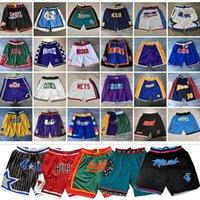 Wholesale Chicago Detroit Orlando Piston Shorts Magics Jersey Just don Heat Hawks North Tar Heels Houston Boston Bull Rocket Celtic Basketball Shorts