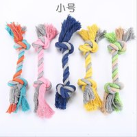 Wholesale molar bone for sale - Group buy Pet Dog Toys Colorful Cotton Rope Knot Pet Molars Chews Toy Durable Braided Bone Dog Supplies PET