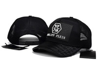 Wholesale visor skull hat for sale - Skull Mesh Snapback Caps Fashion Print Design Adjustable Baseball Nets Cap Summer Style Cool Visor Hats Sports Casual Sun Hats For Beach