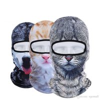 Wholesale 3d motorcycle mask resale online - New D Animal Face Mask Outdoor Sports Cap Bicycle Cycling Fishing Motorcycle Masks Ski Balaclava Halloween Full Face Mask