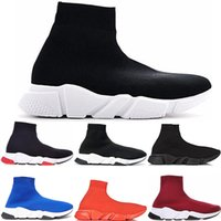 Hot selling 2019 Sock Shoe Speed Trainer Running Shoes With box Sneakers Speed Trainers Socks Race Runners White Black Shoes men and women Sports Shoes