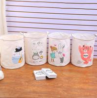 Wholesale dirty laundry clothing online - Foldable Laundry Storage Basket Clothes Storage Bag Dirty Laundry Basket Kids Toys Organizer cartoon Home Sundries Storage Barrel LJJK1303