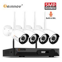 ingrosso telecamera dvr 1tb-Einnov Audio Reocrd Kit telecamera WiFi Videosorveglianza Wireless 4CH CCTV NVR Kit Sistema di sicurezza Telecamera IP H.265 5MP IR