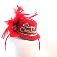 şapka saç süslemeleri toptan satış-2018 Noel yeni tasarım kafa bandı üzerinde santa bayanlar moda saç aksesuarları xmas hediye kadınlar parti dekorasyon olay malzemeleri