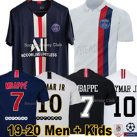 camisa s venda por atacado-19 20 PSG camisas de futebol ALL Paris Saint Germain NEYMAR JR MBAPPE CAVANI AIR JORDAN 2019 2020 goleiro BUFFON VERRATTI campeões jersey homens mulheres crianças kits conjuntos
