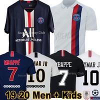 xxl erkekler için gömlekler toptan satış-19 20 PSG futbol formaları ALL Paris Saint Germain NEYMAR JR MBAPPE CAVANI HAVA JORDAN 2019 2020 kaleci BUFFON VERRATTI şampiyonları futbol gömlek erkek bayan çocuk kitleri setleri