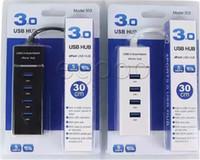 hub de pc usado venda por atacado-4 portas USB hub USB 3.0 Super Speed adaptador para PC Portátil Ratos do computador do teclado unidades externas Use HUB USB