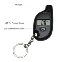 Wholesale mini car gauges for sale - Group buy Portable Mini LCD Digital Tire Tyre Air Pressure Gauge Tester Keychain for Car Truck Bicycle psi M8617