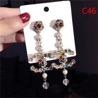 ingrosso orecchini eleganti della nappa-Designer di marca orecchini pendenti con nappe di moda designer di lusso per creare orecchini eleganti da donna in lega orecchini all'ingrosso