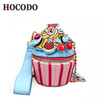 Wholesale fruit shaped cell phones online – Hocodo Girly Wild Shoulder Bag Personality Ice Cream Cup Cartoon Women Messenger Bag Small Cupcake Shape Clutch Ladies Hand Bags Y19062003