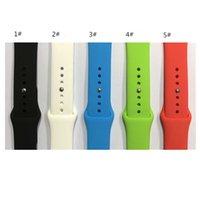 m sportuhr großhandel-Für Apple Uhrenarmband 38mm 42mm 40mm 44mm Sportarmband, Silikon Sportarmband Ersatzbänder für iWatch Serie 4/3/2/1 S / M M / L 38 Farben