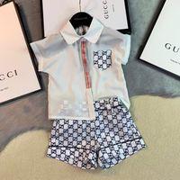 ingrosso ragazzi falsi-Baby Boy Clothes Abbigliamento per bambini Catamite Summer Clothing Suit New Fashion Tide Falsi Child Paper Bambini Tute Sets 0509