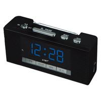 alarmnummer großhandel-Radio 2017 Led Alarm Großes Display Radio Mit Schlummerfunktion Große Anzahl Tischuhren Ac Power Desktop Clock