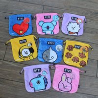 Wholesale storage box rabbit resale online - Women Colorful Storage Bag Cartoon Rabbit Mobile Phone Pocket Doll Pattern Rope Draw Pockets Love Hot Sale Convenient xyC1