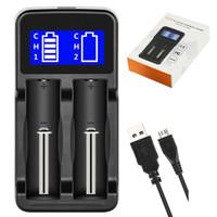 baterias de iões iphone venda por atacado-Display LCD Carregador Inteligente Universal para Baterias Recarregáveis Li-ion batteries 18650 18350 17670 17500 14500 Cigarro Eletrônico
