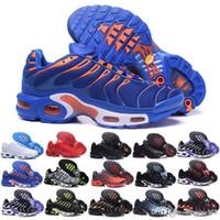 zapato de correr de malla de piel para mujer al por mayor-nike Tn plus air max airmax Original para mujer hombre Mercurial Tn Plus zapatillas Chaussures Femme Tn diseñador zapatillas Kpu cuero mujer deporte zapatillas de malla 36-40