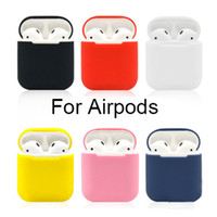 Wholesale Portable Silicone Skin Shockproof For Apple Airpods Skins Airpod Accessories Protective Cover Red Earphone Air Pods Case Replacement i7