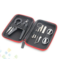 Wholesale jig free resale online - 9 in Tool Bag Kit Blacksmith Pliers Curved Tweezers Coil Jig Brush For Vaporizer Atomizers E Cigarette DHL Free