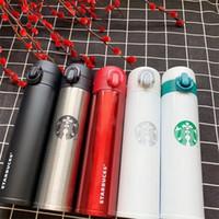caneca branca do starbucks venda por atacado-400 ml de Aço Inoxidável Starbucks Cup Moda Popular Vacuum Caneca Portátil Vender Bem Com Vermelho Branco Preto Cores 15 ht J1