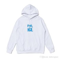 Wholesale ice blocks resale online - PALACEs snow mountain ice block dissolve printing pullover cap men s and women s sweater S XL