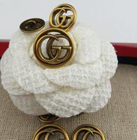 perlas para coser al por mayor-Marca de diseñador Botones de costura Meetee 18mm 23mm Botones de perlas de metal para ropa accesorios de costura para mujer abrigo suéter material de ropa