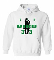 kuş hava toptan satış-Larry Bird Unisex 034 Hava Kuşu 034 jersey SWEATSHIRT HOODIE