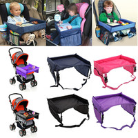 Wholesale car travel tray for sale - Group buy Newest Children Table Baby Car Safety Belt Travel Play Tray Waterproof Foldable Table Kids Car Seat Cover Pushchair Snack Desk XD22115