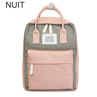 Wholesale women small back packs resale online - Campus Women Backpack School Bag For Teenagers College Canvas Female Bagpack inch Laptop Back Packs Bolsas Mochila MX190816