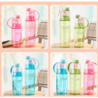 utiliser des bouteilles en plastique achat en gros de-Nouveau 600ml 400mlL spray bouilloire portable bouilloire d'eau tasse étanche à boire utilise bouteille d'eau en plastique de brouillard camping mug T2I5140
