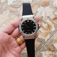 importar relógios mecânicos venda por atacado-New Mens Watch Black Magic / Titanium Opalin importados mecânico automático 45 milímetros 316 Delicate Aço Caso homens relógios de pulso Voltar Transparente