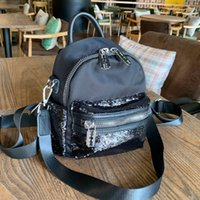 Wholesale quality stylish handbag resale online - Women Backpack Handbags Wallet Fashion High Quality Leisure Large Capacity Black Bead Piece Stylish Lady s Backpacks