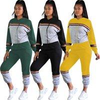 hoody pants women toptan satış-Kış Kadınlar Jogger Spor ter Suit eşofman Hoody Tişörtü Casual Sportwear Uzun Kollu Hoodie Pants İki Adet Set Takımları