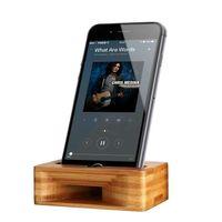 iphone мобильный динамик оптовых-Мобильный телефон громкоговоритель динамик для Iphone Samsung Sony деревянный держатель усилитель звука бамбук кронштейн дерево настольная подставка поддержка