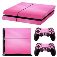 Wholesale ps4 controller decal sticker resale online - Pink Vinyl Decal Skin Sticker Console Decorations Game Accessories Cover For PS4 Playstation Console Controller