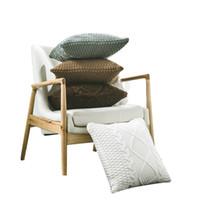almohadas de tiro de punto al por mayor-Funda de almohada de punto rombal de lana gruesa 4 colores Regalos promocionales Fundas de cojines para sofás Cubiertas de almohadas de doble cara con giro de 18 x 18 pulgadas Bolsas de almohada