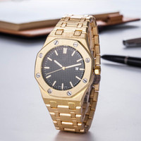 Wholesale calendars watchbands resale online - Luxury mens designer watches female Fashion Royal Oak watch for Leisure Stainless steel watchband Business Quartz Wristwatch Top quality