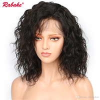 Wholesale brazilian silk top lace wigs for sale - Group buy Brazilian Virgin Remy Natural Wave Lace Front Wigs Rabake x4 Silk Top Short Bob Human Pixie Lace Front Hair Wigs Natural Hairline