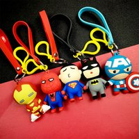 Wholesale girls gifts online - The Avengers key chain bell couple Keychain Car Key Holder Acrylic Bell Anime Key Chain Bag Pendant Bts Accessories Girl Gift