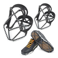 Wholesale shoe crampons grips resale online - 1 Pair Outdoor Sports Shoe Cover Non slip Crampons Ice Grip Walk Traction Cleats ice Crampon Shoe Covers
