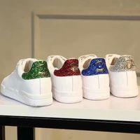 ingrosso scarpe da ginnastica in pelle-Sneakers Chiara Ferragni Bling verde rosso blu posteriore bianco Sneakers Scarpe Flats Donna Lace up Sneakers Sneakers in vera pelle da donna