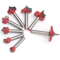 Wholesale edge cutters for sale - Group buy Milling Cutter Tool Handle Double Edged Cutting Design Engraving End Woodwork Round Shank Tip Mouth Mill