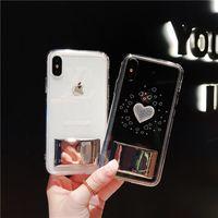x max light al por mayor-Para iPhone X 8/7/6 Plus Xs Xr Xs Max 3D Estéreo Luz Colorido Multi-color Funda para teléfono móvil Love Cartoon Popualar Transparente TPU Soft Shell