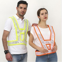 Wholesale man work clothing for sale - 2 Colors V Type Reflective Vest Unisex High Visivility Outdoor Safety Vest Men Running Cycling Sports Work Clothes CCA10931