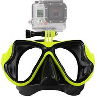 Wholesale black dive mask for sale - Group buy Durable Lightweight Camera Diving Goggle Camera Yellow Red Black Blue Mount Diving Swimming Diving Mask