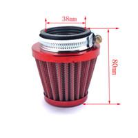 filtros de ar do motor venda por atacado-38mm 110CC 125cc Filtro De Ar Do Motor Limpo Sujeira Pit Bike Mini Motocross Para PZ22 PZ22 PZ27 Carb