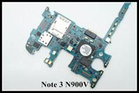 verizon samsung galaxy großhandel-Unlocked Original Chips Logic Board für Samsung Galaxy Note 3 N900V Motherboard Clean IMEI VERIZON