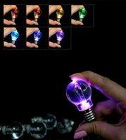 ingrosso luce dell'anello della batteria-Keychain Led Light Battery Mini Lampadina Torcia Mini LED Keychain Lights Catena Chiave Rung Bulbs Lghting Portachiavi LJJV130