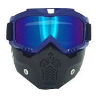 Wholesale face safety mask resale online - Motorcycle Flip up face mask Safety motocross helmet goggle helmets Safety Racing Motocross helmet